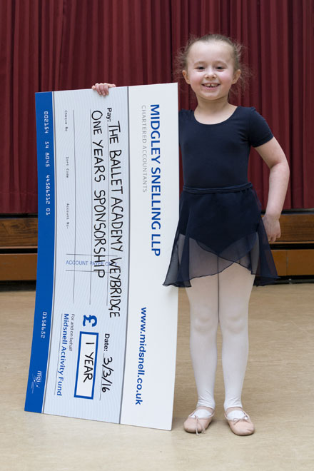 Midsnell Activity Fund supports young girl at Weybridge Ballet Academy